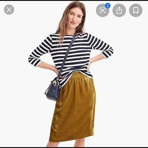 J.Crew Pull On Velvet Skirt